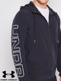 Men's Under Armour 'Base Line Hooded' Jacket  (1317413-001) x8 (Option 1): £18.95